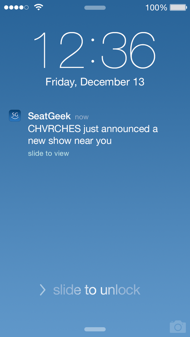 SeatGeek Android ticket view screenshot